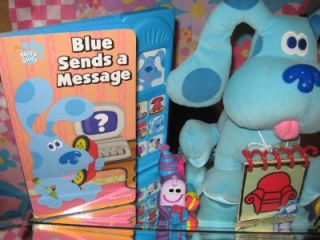 Blues Clues Lot Plush Notebook Books Pillowcase Salt