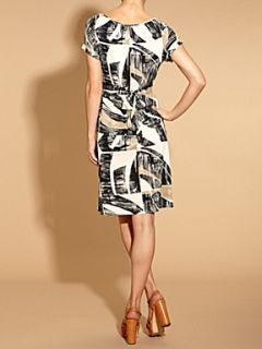 Weekend MaxMara Osmio abstract print dress Grey