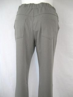 City Hearts Size 2X Straight Knit Pant with Four Pockets in Gray
