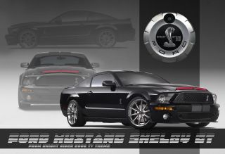 Poster Ford Mustang Knight Rider Kitt 13x19 inch Sports Car Classic