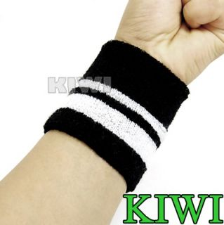 Pair High Quality Stylish Sporty Wristband Stylish design with white