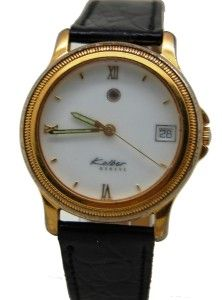 Kolber Geneve Vintage 25 Jewels Mens Automatic Swiss Made Date Gold