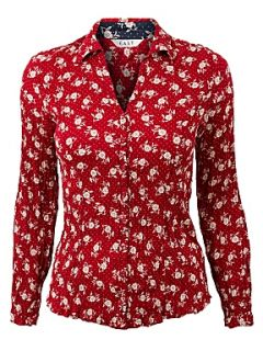 East Sophia floral shirt Scarlet