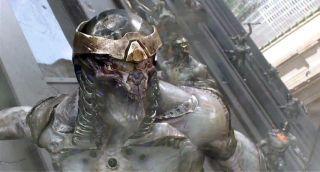 Marvel Avengers Battle Hammer Thor and Cosmic Axe Chitauri 2 Piece Lot