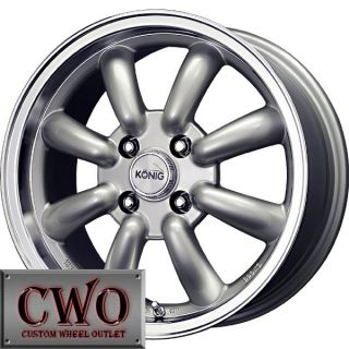 15 Silver Konig Rewind Wheels Rims 4x114 3 4 Lug Accord Sentra 200SX