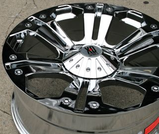KMC XD Series Monster 778 24 Chrome Rims Wheels Ford F 350 F350 8H 98