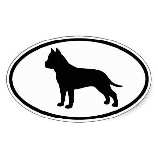 American Staffordshire Terrier Oval Sticker