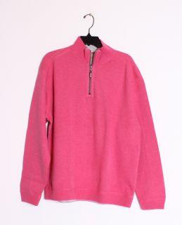 Tommy Bahama Mens Flip Side Pro Half Zip Reversible Sweatshirt