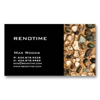 Construction Contractor Business Card Pebbles