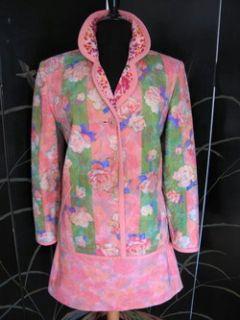 Koos Van Den Akker Vintage Floral Suit Skirt Jacket M