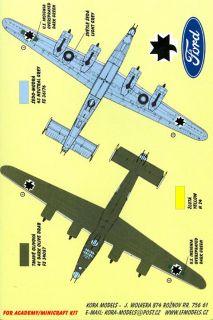 Kora Decals 1 72 Consolidated B 24H Liberator Croatian Air Force