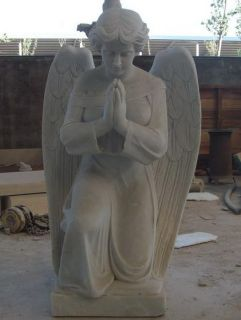White Marble Praying Angel Garden Statue