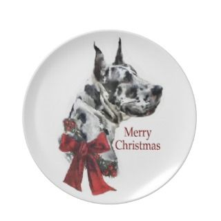 Great Dane Christmas Plates