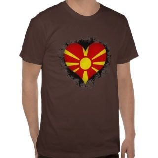 Vintage I Love Macedonia T shirts