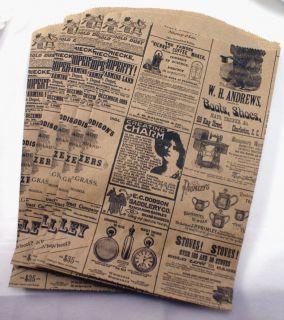 Ad Print Kraft brown paper bags   Party Favor, Treat, Retail Bags