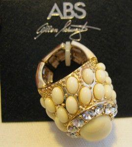 Authentic ABS Allen Schwartz Designer Rhinestone Fashion Costume Bling