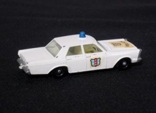 RARE Car Lesney Matchbox Ford Galaxie Police C D No 55 59