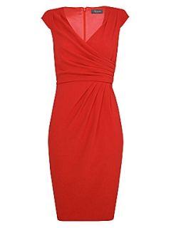 Alexon Hot Coral Crepe Dress Orange