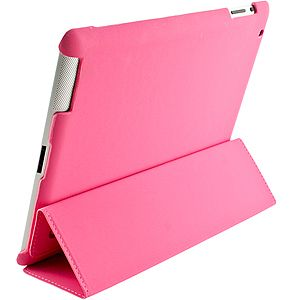 Kroo Tri Pad Shell Cover Sleep Mode for iPad 2 3G Pink