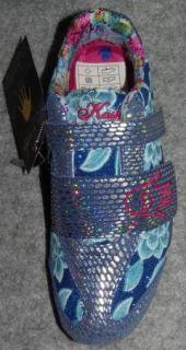 New Kashi Kicks Womens Blue Glitter Bling Sneakers Shoes Size 6 M