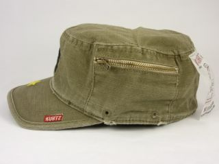 Kurtz Fritz Crosshatch Hat Cadet Cap Fatigue Army Military Green