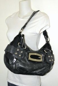 New Guess B Marciano Kym Black Studded Hobo Bag