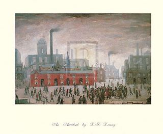 Lowry An Accident Manchester Classic Print Small