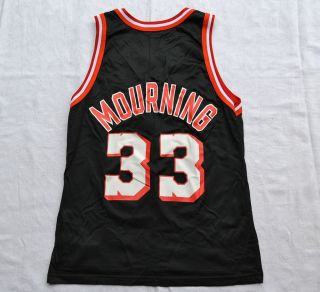 Miami Heat 90 Vintage NBA Jersey by Champion 33 Mourning Size 40