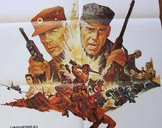1968 Sergeant Ryker Original One Sheet 1sh 27x41 Movie Poster Folded