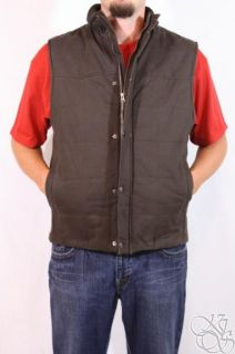 ROUNDTREE & YORKE Kevin Dark Brown Vest Winter Jacket Coat $120 size