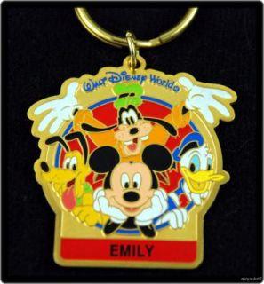 Keyring Walt Disney World Pick One Choice of Name