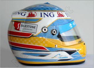 Fernando Alonso 2008 F1 Japanese GP Replica Helmet 1 1
