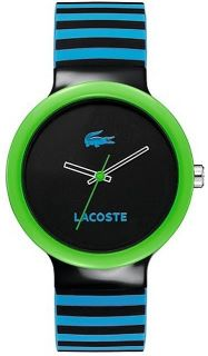 New Lacoste 2020006 Sport Collection Goa Striped Dial Ladies Watch