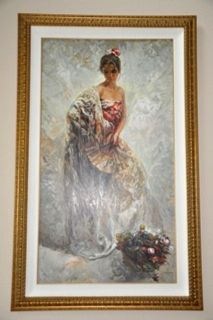 JOSE ROYO   LA MODELO   SERIGRAPH ON PANEL   128 150   MUSEUM FRAMED