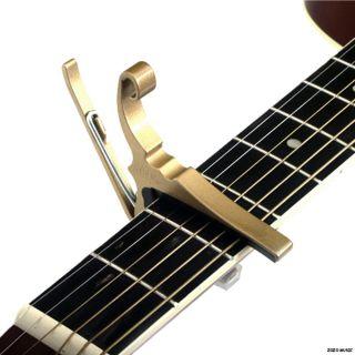 Brand New Kyser KG6G Quick Change 6 String Guitar Capo Gold KG6 Ships
