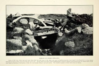 1927 Print Eskimo Dwelling Historical Fifth Thule Expedition Site
