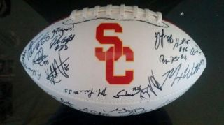 2012 USC Trojans Team Signed Football Certificate Proof Matt Barkley