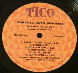 Tito Puente La Lupe Homenaje A Rafael Hernandez Orig LP