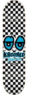 Krooked Checkered Skateboard Deck Blue Eyes 7 75