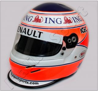 Nelson Piquet Jr 2008 F1 Replica Helmet Scale 1 1