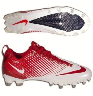 13 Nike Zoom Vapor Carbon Lax White Red Lacrosse Cleats Shoes