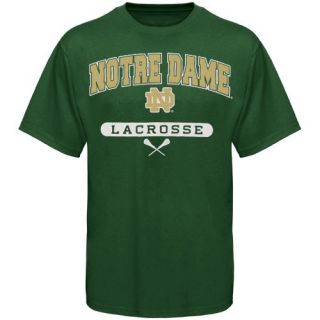 Russell Notre Dame Fighting Irish Kelly Green Lacrosse T Shirt