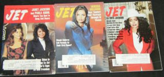 Paula Abdul Janet Jackson in 3 Issues of Jet Magazine