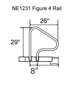 Salt Resistant Inground Swimming Pool Figure 4 Grab Rails Set of 2