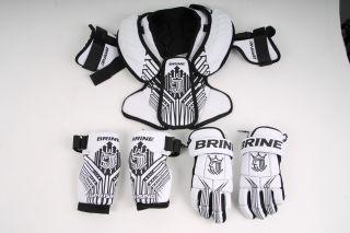 Brine Lacrosse Uprising Starter Set Medium Missing Shoulder Pad Strap