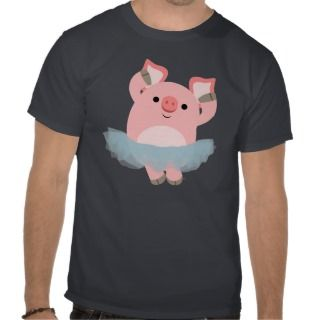 Cute Cartoon Ballerina Pig T Shirt