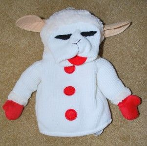 Aurora Lamb Chop and Friends Cream Puppet Lamb 2002 Shari Lewis Plush