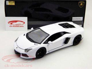Lamborghini Aventador LP700 4 White Metalic 1 18 Bburago