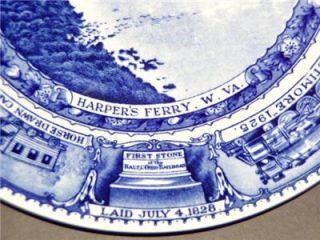 Baltimore Ohio Railroad China Lamberton B O RR Dinner Plate Centenary
