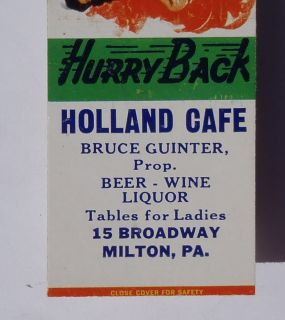 Pinup Holland Cafe Bruce Guinter Table for Ladies Milton PA